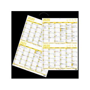 Kæmpe Kalender 13 Mdr Whiteboard Gul 2020