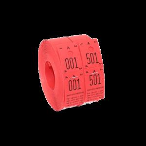 Garderobenumre 48 - Rød (2X500)