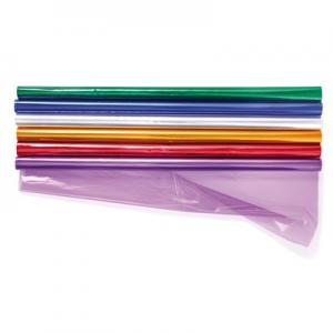 Cellofan - 70 CM X 2 M - Farvet - (305/2)