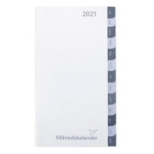 Refil Månedskalender 2020 Grå Faner