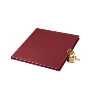 Dagbog 16,5X16,5 - 96 Sider - Vinrød