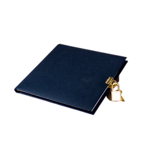 Dagbog 16,5X16,5 - 96 Sider - Mørk Blå
