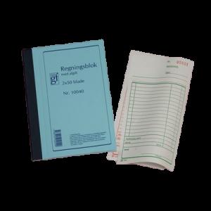 Regningsblok Grafisk Forlag M/Kopi 10040