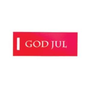"""250 SK. HÆNGEMÆRKER GOD JUL"""" RØD"""""""