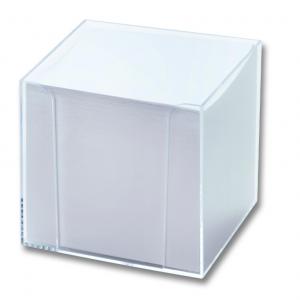 Kubus - Hvidt Papir M. Klar Box