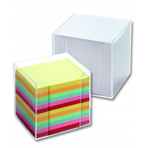 Kubus - Farvet Papir M. Klar Box
