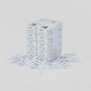 Tombolanumre 1-1000 - Hvid