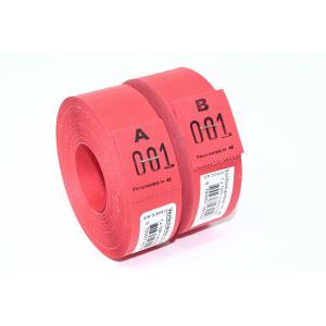 Ventemærker 46 - Rød (1-1000)