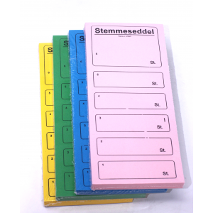 Stemmesedler 100 Stk. Blå