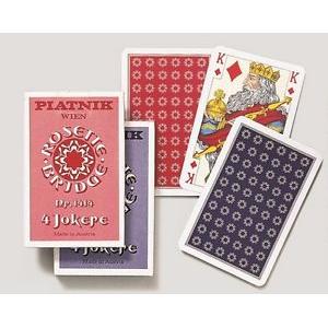 Spillekort - Rosette Enkelt 56 Kort (1414)