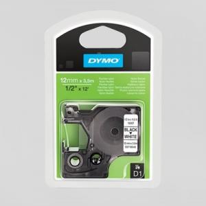 16957 Dymo D1 Nylontape - 12Mm -Sort/Hvid