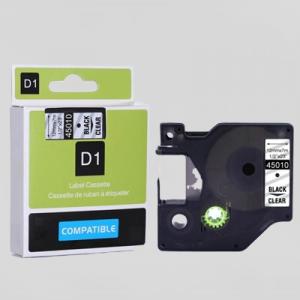 45010-Dymo D1 Tape - 12Mm - Sort/Klar