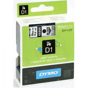 45800-Dymo D1 Tape - 19Mm - Sort/Klar