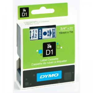 45804-Dymo D1 Tape - 19Mm - Hvid / Blå