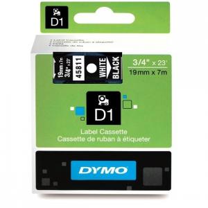 45811-Dymo D1 Tape 19Mm Hvid / Sort