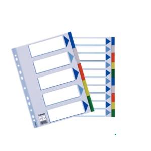 Faneblade Plastic A4 - 5-Delt Flerfarvet