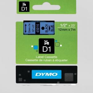 45016-Dymo D1 Tape - 12Mm - Sort/Blå
