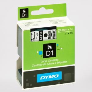 53713-Dymo D1 Tape - 24Mm - Sort/Hvid