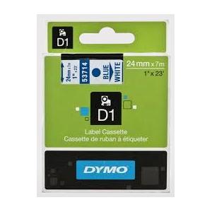 53714-Dymo D1 Tape - 24Mm - Blå/Hvid