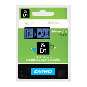 53716-Dymo D1 Tape - 24Mm - Sort/Blå