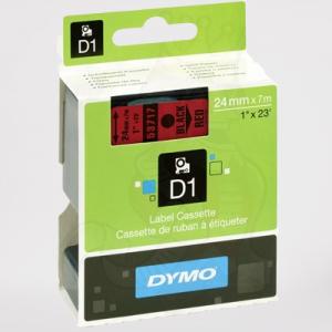 53717-Dymo D1 Tape - 24Mm - Sort  Rød