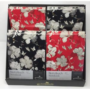 Notesbog A5 - Røde & Sorte Roser 200 Sider Display