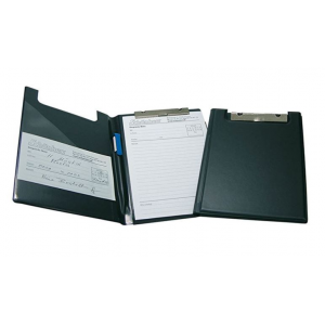 Clipboard M/Omslag A-5 Sort Plast